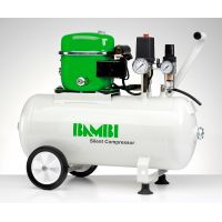 Bambi 24 Ltr Standard Silent Air Compressor - with wheels