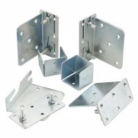 Metal Bed Fixing Bracket Set x 6 pcs - Includes Square Centre Support Rail Brackets