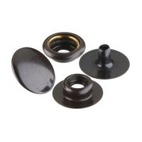 No.20 Snap Fastener 4 Piece Set - Black on Brass