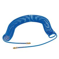 1/4 inch BSPT 10mm OD Blue Recoil Hose with Tails - 10 mtr