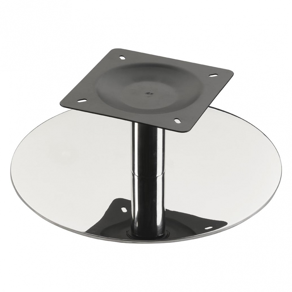 Black Gloss Swivel Chair Base With Square Fixing Plate 500mm