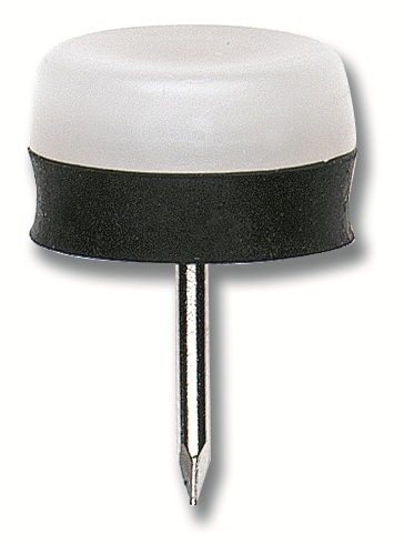 15mm X 15mm White Rubber Cushion Furniture Glides X 50pcs